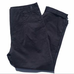 PJK Patterson J Kincaid Navy Blue Crop Pants